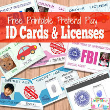 Cards And Licenses Fun Itsy Free Printable Bitsy Id For Kids qHnxIvB
