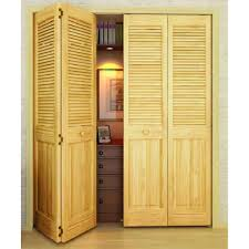 bi fold louver panel solid core unfinished wood interior closet doors