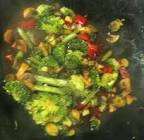 broccoli  mushroom   red peppers in black bean garlic sauce