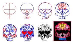 Design A Sugar Skull Online How To Draw A Sugar Skull Design Via Dragoart Com