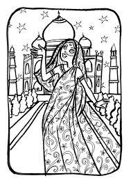 Marion De Castillon Coloriage Du Mercredi Une Princesse Indienne Coloriage Princesse Indienne L
