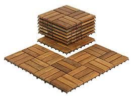 bare decor bare wf2009 solid teak wood interlocking flooring tiles pack of 10