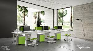 Small Picture Awesome Gray Wall Colors For Modern Office Design With White Green