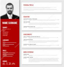 Resume Template Ideas. Cv Resume Template Design Stock Vector Cv ...