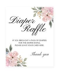 raffle sign blush pink baby shower diaper raffle sign printable whimsical