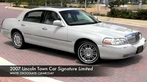 2007 Lincoln Town Car Designer Series For Sale 2007 Lincoln Town Car White Chocolate Tricoat Gulfstream Motorcars
