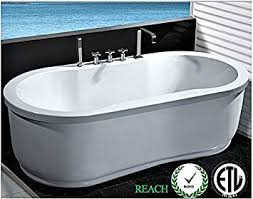 bathtub jetted whirlpool 67u0026quot one person freestanding hydrotherapy white finish massage jets one person hot tub u44