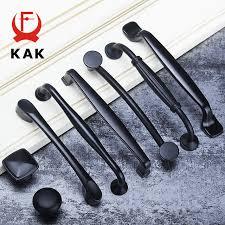 KAK American Style Black Cabinet Handles Aluminum Alloy Kitchen