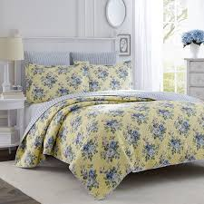 Amazon.com: Laura Ashley Linley Quilt Set, Full/Queen: Home & Kitchen &  Adamdwight.com