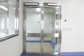 sliding door hospital glass with glass panel