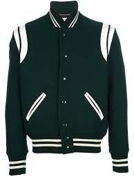 Designer Mens Letterman Jacket Saint Laurent Contrast Varsity Jacket Outerwear Women