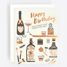 Greeting Pink Happiness And To Whimsical Paper Cards Drink For Forget - Card Olive Birthday Goods Home Gifts