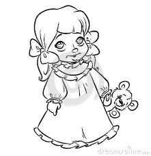 Small Picture Little girl pajamas coloring pages contour illustration Emberek