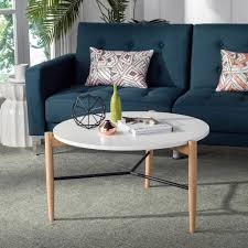 safavieh thyme round white coffee table