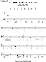 george evans in the good old summer time ukulele tab in g major print sku mn0108543