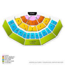 American Family Insurance Amphitheater 2019 Seating Chart