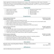 Communications Specialist Cover Letter Marketing Communication Specialist Resume Cover Letter For
