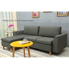 Couches for small spaces Leather Sectional Sofa Lshape Sectional Couch With Reversible Chaise Couches And Sofas With Amazoncom Couches For Small Spaces Amazoncom