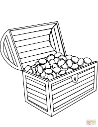 Treasure Chest Coloring Page Free Printable Coloring Pages