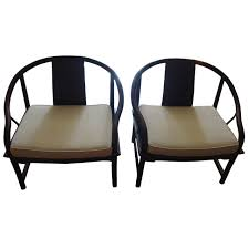 Mid-Century Modern Baker Asian Style Caned Chairs at 1stdibs