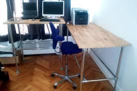 corner desk standing height