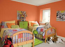 Orange Color For Bedroom Orange Kids Rooms Ideas Super Charged Kids Bedroom Paint