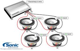 subwoofer wiring diagrams sonic electronix see diagram