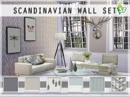 on the sims resource sims 3 wall art with simfabulous scandinavian wall set