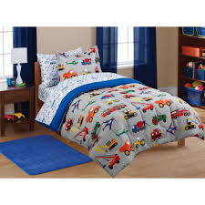 Kids Bedroom Bedding Mainstays Kids Transportation Coordinated Bed In A Bag Walmartcom