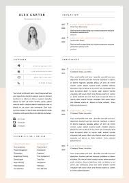 Modern Resume Template & Cover Letter Icon Set door OddBitsStudio Etsy -  (interested in seeing how people make the cover letter and resume look  cohesive)