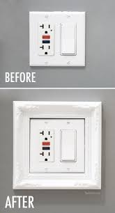 Light Switch Frame Before and After