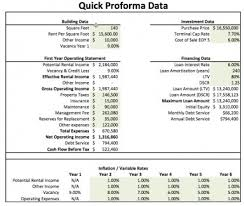 Pro Forma Example Real Estate Proforma Excel Model Template