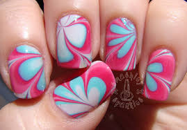 Nail art marble ~ Beautify themselves with sweet nails