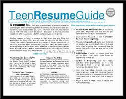 Teenage Resume Cover Letter Teenage Resume Builder Ou Youth Ideas High School 85