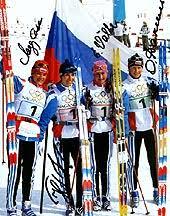 Реферат Лыжный спорт коньковый ход com Банк  Российские лыжницы победители в эстафете 4х10 км на олимпиаде в Нагано Л Лазутина Н Гаврылюк Е Вяльбе О Данилова