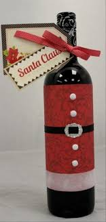 O Site Wine Bottle Christmas Crafts