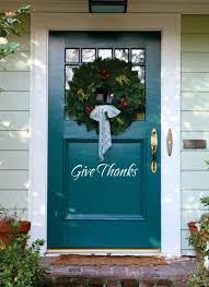 thanksgiving front door decorationsFront Doors  Common Cooking Measurements Vinyl Sticker Decal For