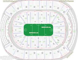 Maple Leafs Seating Chart Toronto Air Canada Centre Seat Row Numbers Detailed