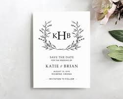 Save The Date Template Word Printable Save The Date Template Digital Download For Word Floral Wreath Invitation Fully Customizable Katie