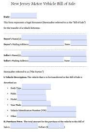 Auto Bill Of Sale Free New Jersey Motor Vehicle CarAuto Bill Of Sale Form PDF 17