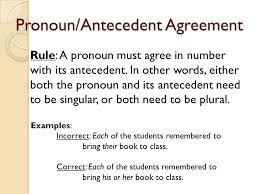 Pronoun Antecedent Agreement Agreement Notes Ppt Video Online Download