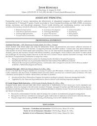 resume wording leadership skills sample and vice principal resumes  functional