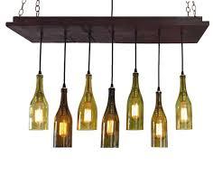 wine bottle lighting. Wine Bottle Light 7 Recycled Bottles Rustic Lighting