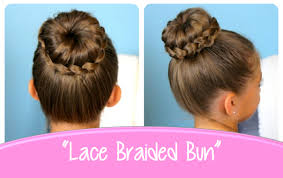 Lace Braided Bun | Cute Updo Hairstyles | Cute Girls Hairstyles
