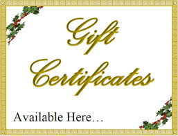 Gift Certificate Sign Gift Certificates Available Sign New Pin Gift Certificate Sign On