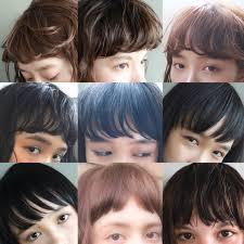 前髪コレクション パーマやストレート前髪の隙間 前髪の厚さや
