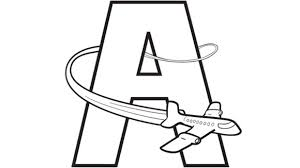 Small Picture Alphabet Coloring Pages A Airplane Grandparentscom