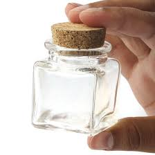 Glass jars with corks 270oz Small Glass Square Cork Jar Gift Bags Favor Bags Party Supplies Party Special Occasions Factory Direct Craft Small Glass Square Cork Jar Gift Bags Favor Bags Party
