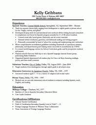 Resumes Teacher Resume Template Elementary School Word Format Doc