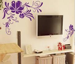 stylish wall art ideas for bedroom bedroom wall art design flower sticker decals tv background decor